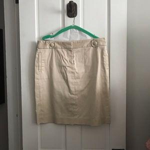 JCrew khaki pencil skirt- Sz 10